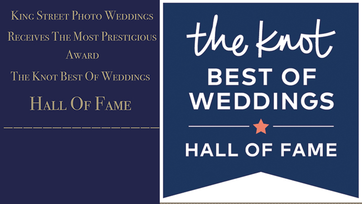 The Knot Best Of Weddings Hall Of Fame Is Presented To King Street Photo Weddings